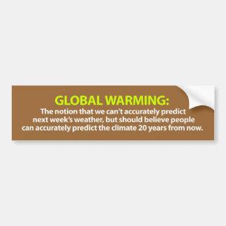 Pegatina para el parachoques del calentamiento del etiqueta de parachoque