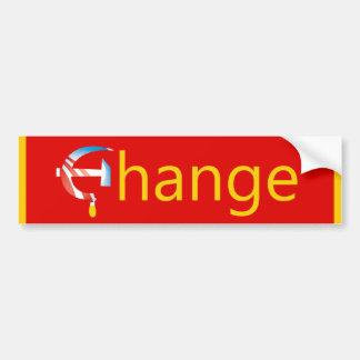 Pegatina para el parachoques del cambio de Obama Pegatina Para Auto