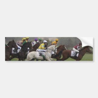 Pegatina para el parachoques del campo del caballo etiqueta de parachoque