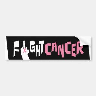 Pegatina para el parachoques del cáncer de pecho d pegatina para auto