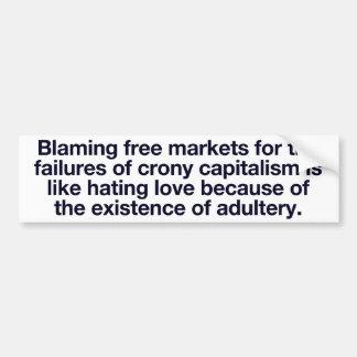 Pegatina para el parachoques del capitalismo de ca pegatina para auto