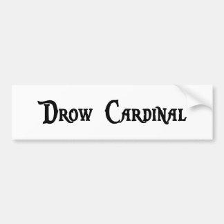 Pegatina para el parachoques del cardenal de Drow Etiqueta De Parachoque