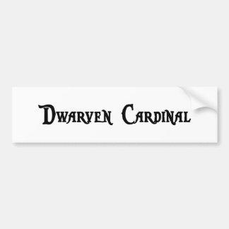 Pegatina para el parachoques del cardenal de Dwarv Pegatina De Parachoque