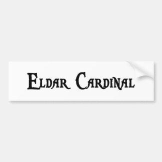 Pegatina para el parachoques del cardenal de Eldar Etiqueta De Parachoque