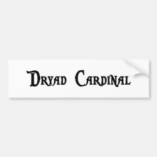 Pegatina para el parachoques del cardenal de la dr etiqueta de parachoque