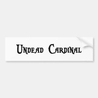 Pegatina para el parachoques del cardenal de los U Etiqueta De Parachoque