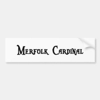 Pegatina para el parachoques del cardenal de Merfo Etiqueta De Parachoque