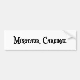 Pegatina para el parachoques del cardenal de Minot Etiqueta De Parachoque