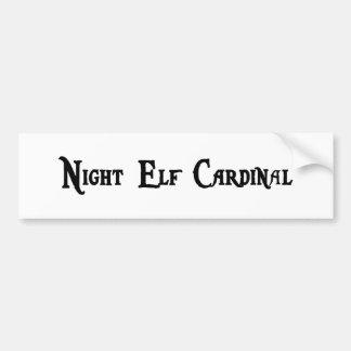 Pegatina para el parachoques del cardenal del duen etiqueta de parachoque