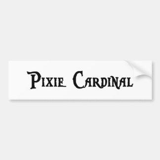 Pegatina para el parachoques del cardenal del duen pegatina de parachoque