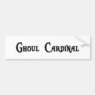 Pegatina para el parachoques del cardenal del espí pegatina de parachoque