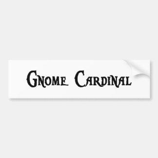Pegatina para el parachoques del cardenal del gnom pegatina de parachoque