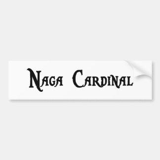 Pegatina para el parachoques del cardenal del Naga Pegatina De Parachoque