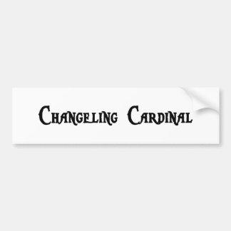 Pegatina para el parachoques del cardenal del niño pegatina de parachoque