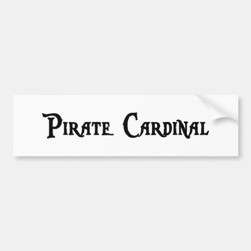 Pegatina para el parachoques del cardenal del pira pegatina de parachoque