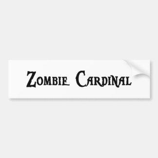 Pegatina para el parachoques del cardenal del zomb pegatina de parachoque