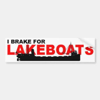 Pegatina para el parachoques del carguero del lago pegatina para auto