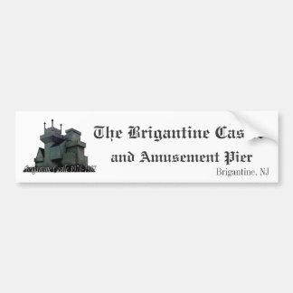 Pegatina para el parachoques del castillo del berg pegatina para auto