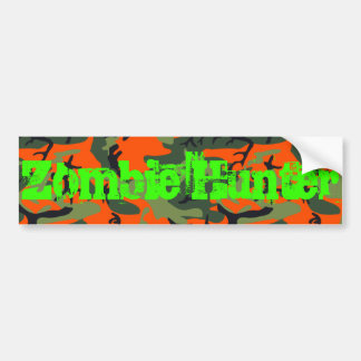 Pegatina para el parachoques del cazador del zombi pegatina de parachoque