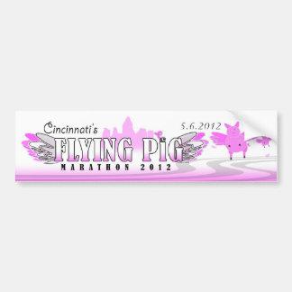 Pegatina para el parachoques del cerdo '12 del vue pegatina para auto