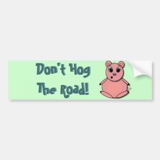 Pegatina para el parachoques del cerdo de camino pegatina para auto