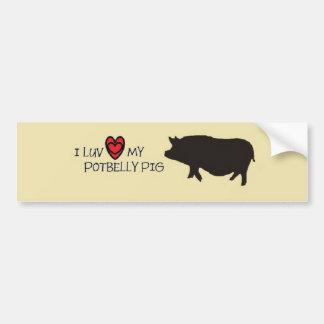 Pegatina para el parachoques del cerdo del vientre pegatina para auto
