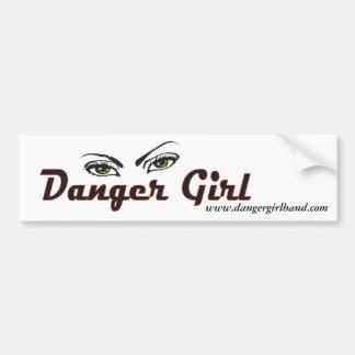 Pegatina para el parachoques del chica del peligro pegatina para auto