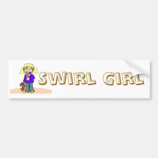 Pegatina para el parachoques del chica del remolin etiqueta de parachoque