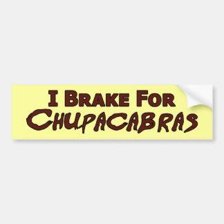 Pegatina para el parachoques del Chupacabra Etiqueta De Parachoque