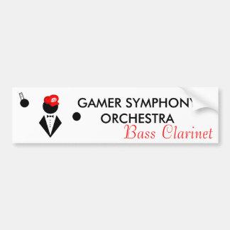 Pegatina para el parachoques del clarinete bajo de pegatina para auto