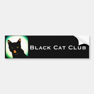 Pegatina para el parachoques del club del gato neg etiqueta de parachoque