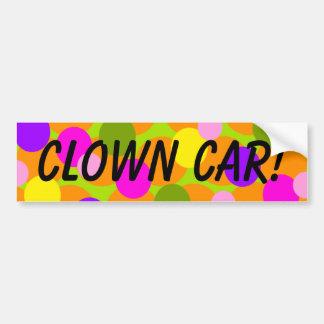 Pegatina para el parachoques del coche del payaso  pegatina para auto