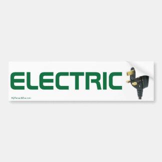 Pegatina para el parachoques del coche eléctrico etiqueta de parachoque