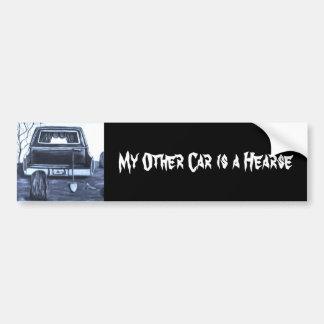 Pegatina para el parachoques del coche fúnebre etiqueta de parachoque