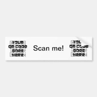 Pegatina para el parachoques del código de QR Etiqueta De Parachoque