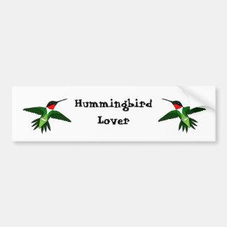 Pegatina para el parachoques del colibrí etiqueta de parachoque