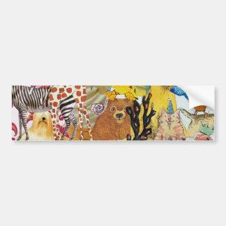 Pegatina para el parachoques del collage 3p1 de lo pegatina para auto