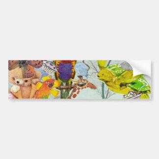 Pegatina para el parachoques del collage 3P2 de lo Pegatina Para Auto