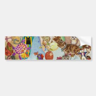 Pegatina para el parachoques del collage 3p3 de lo pegatina para auto