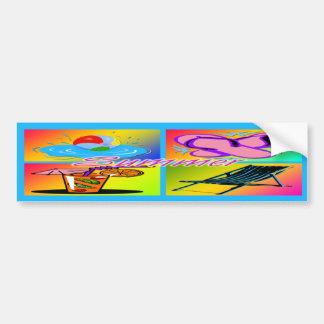 Pegatina para el parachoques del collage del veran etiqueta de parachoque
