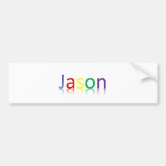 Pegatina para el parachoques del color de Jason Pegatina Para Auto
