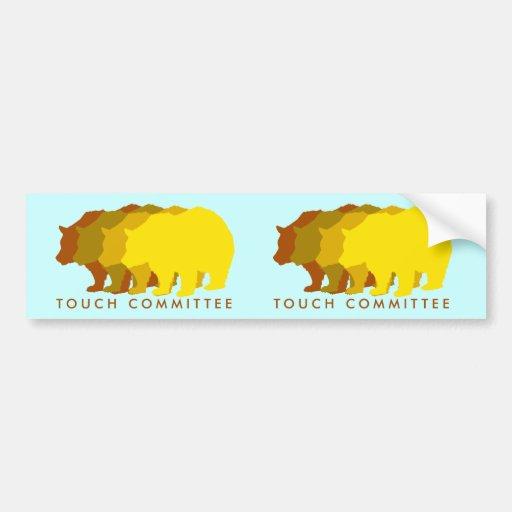 Pegatina para el parachoques del comité del tacto pegatina para auto