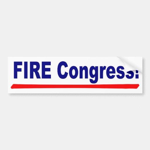 Pegatina para el parachoques del congreso del fueg pegatina de parachoque