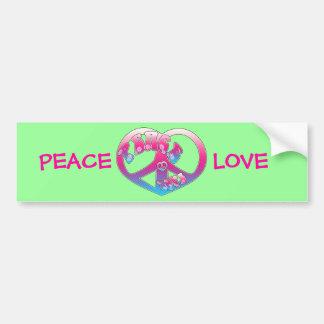 Pegatina para el parachoques del corazón de la paz pegatina para auto