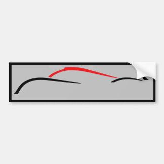 Pegatina para el parachoques del corredor del pegatina para coche