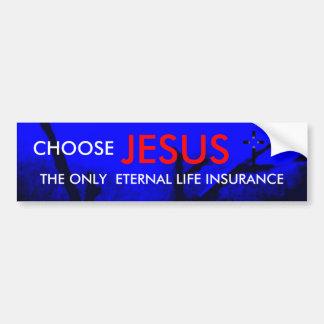 Pegatina para el parachoques del cristiano del seg pegatina para auto
