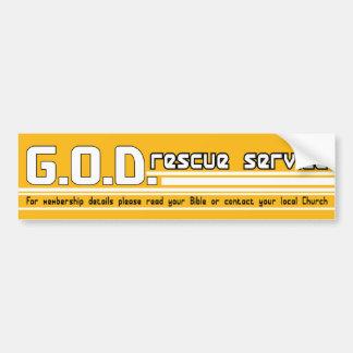 Pegatina para el parachoques del cristiano del ser pegatina para auto