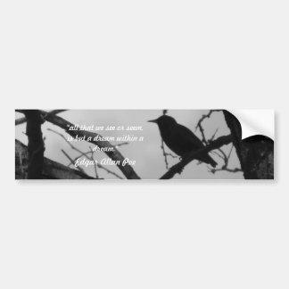 Pegatina para el parachoques del cuervo pegatina para auto