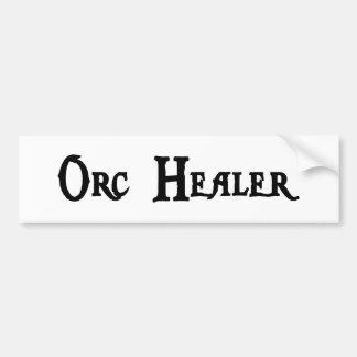 Pegatina para el parachoques del curador de Orc Etiqueta De Parachoque