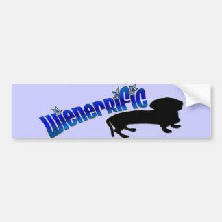 Pegatina para el parachoques del Dachshund del *Wi Pegatina Para Auto